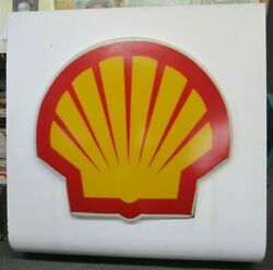 Huge 4' X 4' Shell Gas And Oil Metal And Plastic Sign