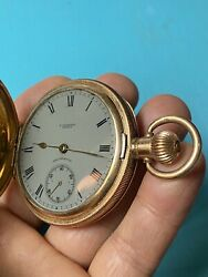 Extremely Rare 1900andrsquos Waltham Traveler Pocket Watch Usa 14ct Gp