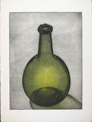 Signed Vintage Serigraph By Thomas O'donoghue, Limited Edition 99 'green Bottle'