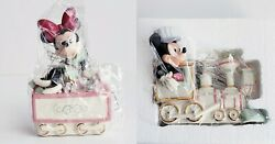Lenox Disney Mickey Mouse Minnie Mouse All Aboard Christmas Train Figurines New