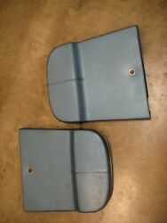 1967 Corvette Seat Backs, Med Blue, Original The Color Is Of In The Photo