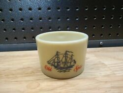 Vintage Old Spice Shaving Brush Mug Cup With Ship Graphic Picture On Front