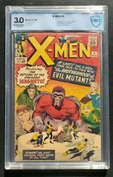Silver Age Marvel Hero Comic X-men 4 1st Scarlet Witch And Quicksilver Cbcs 3.0