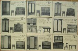 French Art Deco Furniture 1920s Advertising Postcards Set Of Nineteen 19