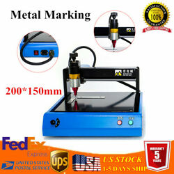 200150mm Electric Metal Marking Machine For Metal Iron Tag Steel Sign Engraver