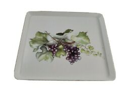 Melamine Tray With Grape By Design Imports Made In Italy 12.25x10.5x.75