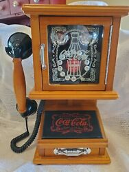 Nostalgic Coca-cola Retro Push Phone Wall Hang Or Table Tested And Works