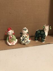 Amy Lacombe Whimisclay Cat Small Figurines Lot Of 3