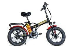 48v 750w Front Suspension Fat Tire Folding Electric Bike 7 Speed Lcd Display