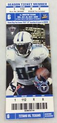 Nfl 2014 10/26 Houston Texans At Tennessee Titans Ticket-arian Foster 151yd 2tds