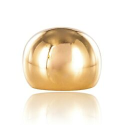 Ring Ball Yellow Gold Vintage Modern Jewelry Antiques