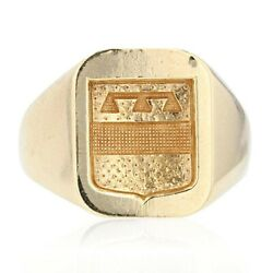 Signet Ring Armoiriandeacutee Yellow Gold Modern Jewelry Antiques