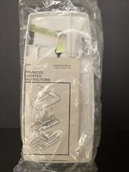 Modular Back Plate Adapter 554 Wall Mount Phones Smaller White Vintage New