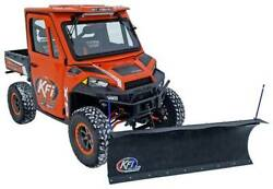 Kfi 72 Poly Plow Kit W/ Mad Dog 2500 Winch For 2015-2019 Bobcat 3400 / 3600