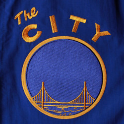 Mitchell And Ness Golden State Warriors Nothing But Net The City Warm Up Jacket