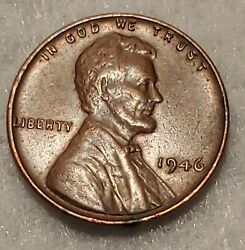 Rare 1946 Lincoln No Mint Mark Wheat Back One Cent Penny Coin - Nice Condition