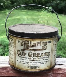 Cool Early Polarine Cup Grease Car Boat Lubrication Socony 5lb Can Bucket
