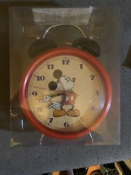 Vintage Disney - Mickey Mouse - Moving Hands - Ringing Twin Bell Alarm Clock