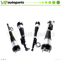 2 × Rear + Front Air Suspension Strut For 4matic Mercedes W221 S450 S500 S65 Amg