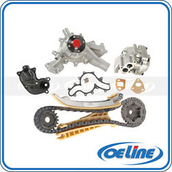 Timing Chain Kit Water Pump Thermostat Housing Assembly For 02-11 Ford Mercury