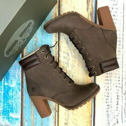 Womenand039s Tillston Dark Brown Leather Boots A2dxd