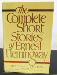 The Complete Short Stories Of Ernest Hemingway Hcdj Book Club Edition