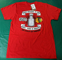 Brand New W/tags, Chicago Blackhawks 2013 Stanley Cup Champions T-shirt - Size L