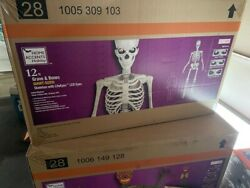 12 Foot Giant Skeleton Home Depot - Mint Sealed Box - Sold Out - Lcd Life Eyes