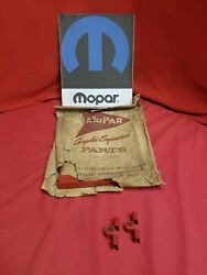Nos Mopar 34-56 Battery Hold Down Red Cover W/ Clamps 2084237