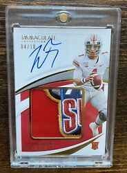 2021 Panini Immaculate Justin Fields Rpa Sugar Bowl Patch Auto D 04/10 Bears Rc