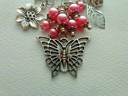BOHO HIPPIE BUTTERFLY FLOWERS LADY BUG KEYCHAIN CLIP FOR PURSE FOB DESIGNER BAGS $9.99
