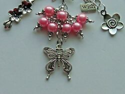 BOHO BUTTERFLY DREAM BELIEVE WISH KEYCHAIN CLIP FOR PURSE FOB DESIGNER BAGS $9.99