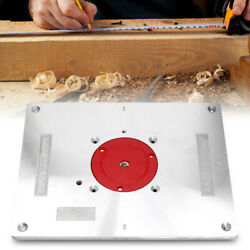 Multifunctional Aluminum Router Table Insert Plate With Ring For Woodworking