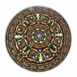 36 Marble Dining Table Top Inlay Rare Stones Round Center Coffee Table Ar0957