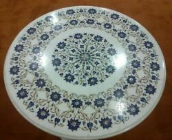 36 Marble Dining Table Top Inlay Rare Stones Round Center Coffee Table Ar0958