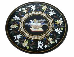 36 Marble Dining Table Top Inlay Rare Stones Round Center Coffee Table Ar0973
