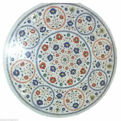 36 Marble Dining Table Top Inlay Rare Stones Round Center Coffee Table Ar0976