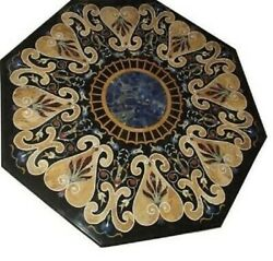 36 Marble Dining Table Top Inlay Rare Stones Octagon Center Coffee Table Ar0977