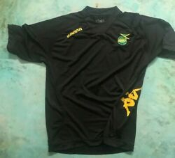 Used Jamaica Mens Official Soccer Jersey Kappa Marked Xl Black 2013