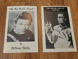 Deforest Kelley Of Star Trek Rare Booklets Big Bird's Dream And The Dream Goes On