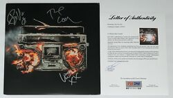 Green Day Billie Joe Armstrong Mike Dirnt And Tre Cool Signed Revolution Radio Psa