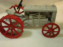 """Vintage Fordson Toy Tractor Cast Iron 552 Gray Red 6-1/2"""""""