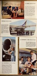 Uat Aeromaritime Airlines Air France Dc8 Brochure 1960s Route Map