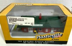 Bachmann Plasticville Passenger Station Built-up N Scale 45908 New In Box