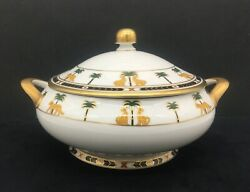 Christian Dior China Casablanca Covered Serving Dish W/ Lid And Two Handles