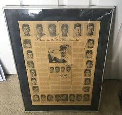Unbelievable 1969 New York Mets Ws Champs Team Signed Newspaper 30 Autos Jsa Coa