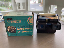 Sawyerand039s Vintage View-master Lighted Stereo Viewer Model F No. 2026 Bakelite