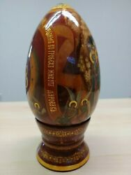 Unigue Russian Kholuy School Of Icon Painting/ Handpainted Easter Egg By Babaeva