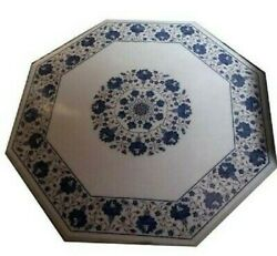 36 Marble Dining Table Top Inlay Rare Stones Octagon Center Coffee Table Ar1023