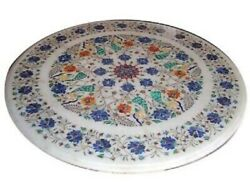 36 Marble Dining Table Top Inlay Rare Stones Round Center Coffee Table Ar1059